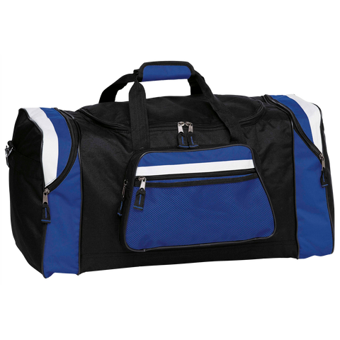 Image of Contrast Gear Sports Bag, Colours: Black / Royal / White