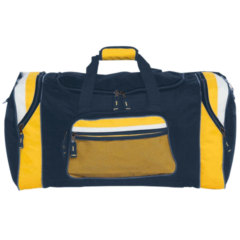 Image of Contrast Gear Sports Bag, Colours: Navy / Gold / White