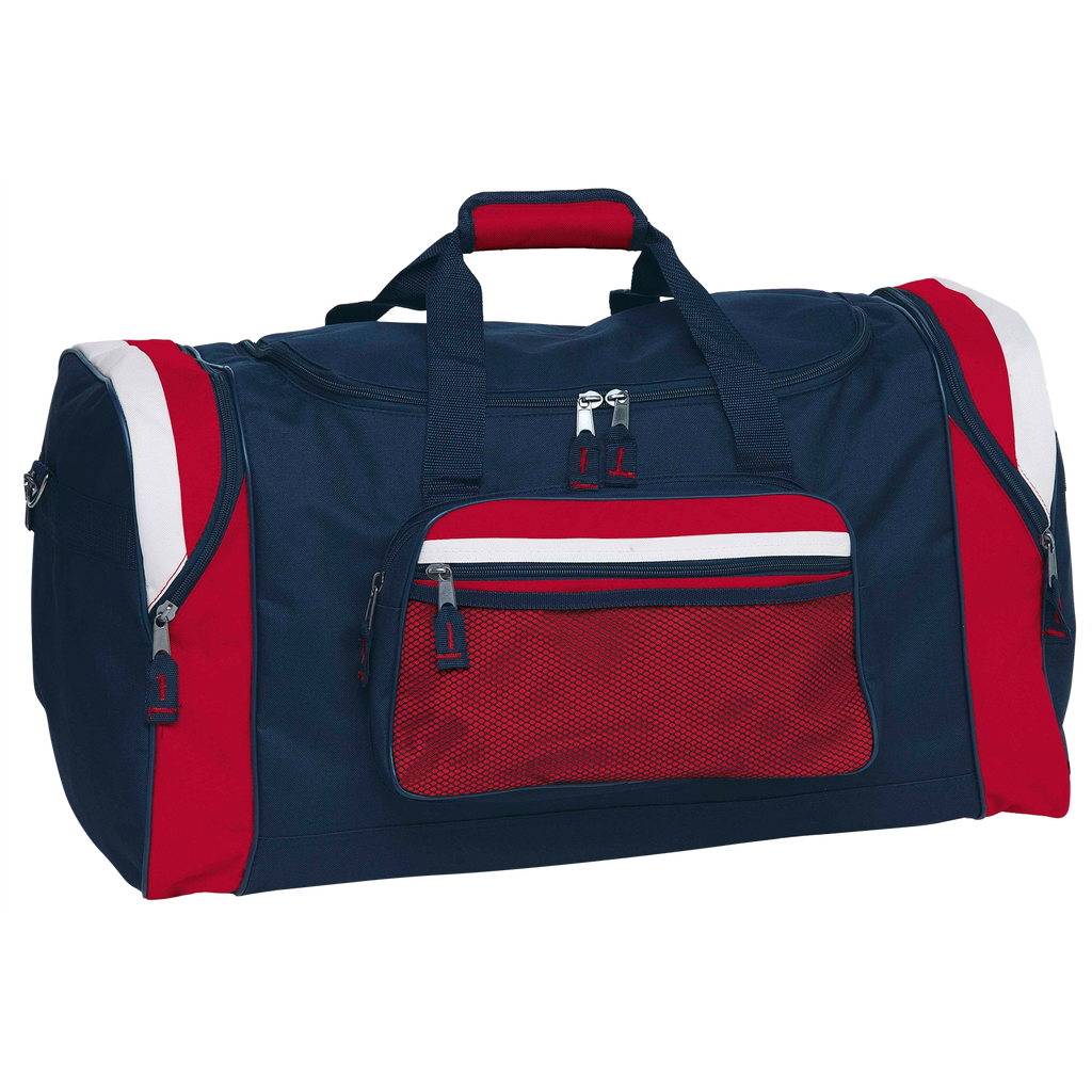 Contrast Gear Sports Bag - Colours Navy / Red / White
