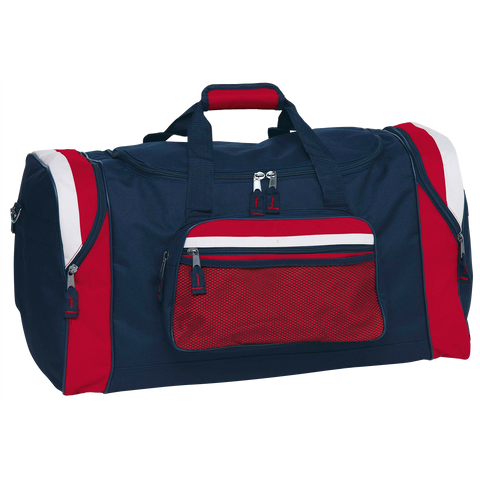 Image of Contrast Gear Sports Bag, Colours: Navy / Red / White