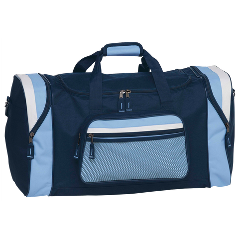 Contrast Gear Sports Bag, Colours: Navy / Sky / White