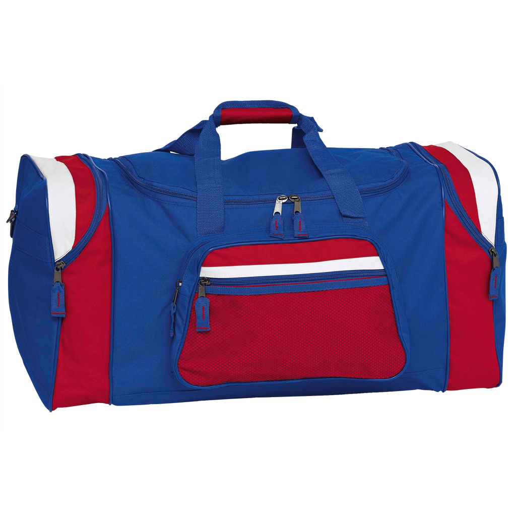 Contrast Gear Sports Bag - Colours Royal / Red / White
