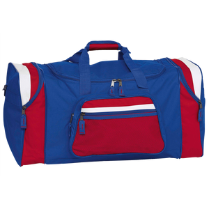 Contrast Gear Sports Bag, Colours: Royal / Red / White
