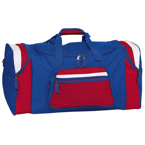 Image of Contrast Gear Sports Bag, Colours: Royal / Red / White