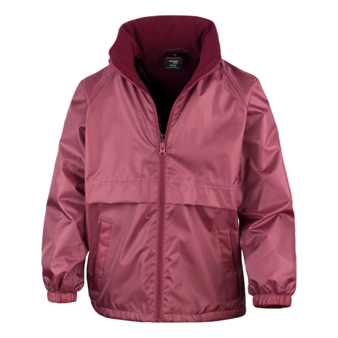 Kids Core DRI-Warm and Lite Jacket - Colour Burgundy
