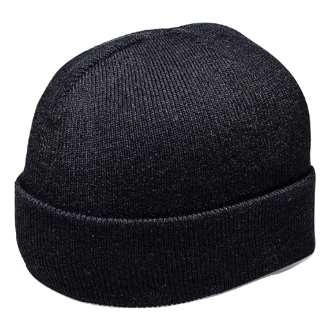 Cuffed Knitted Beanie - Colour Black