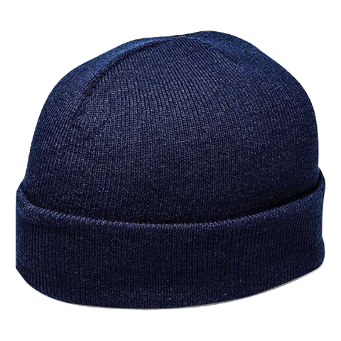 Cuffed Knitted Beanie - Colour Navy