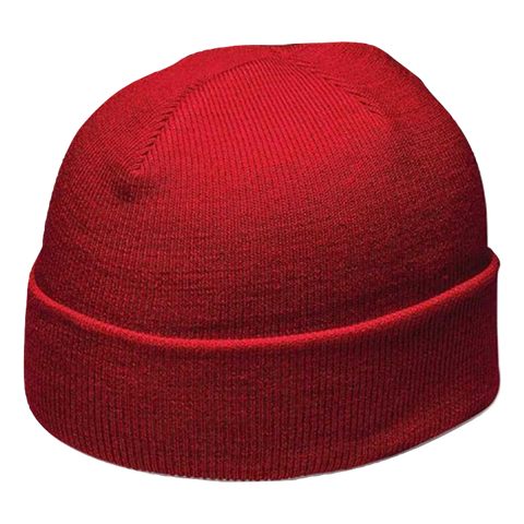 Cuffed Knitted Beanie, Colour: Red