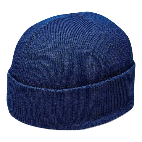 Cuffed Knitted Beanie - Colour Royal