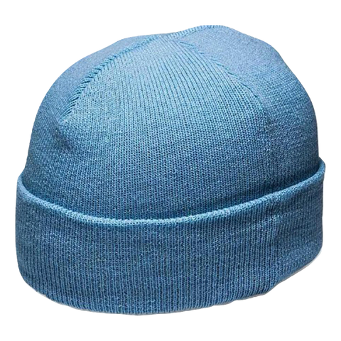 Cuffed Knitted Beanie - Colour Sky