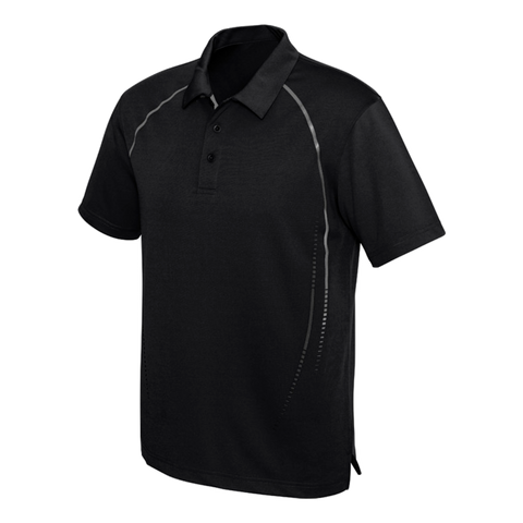 Image of Mens Cyber Polo - Colours Black / Silver