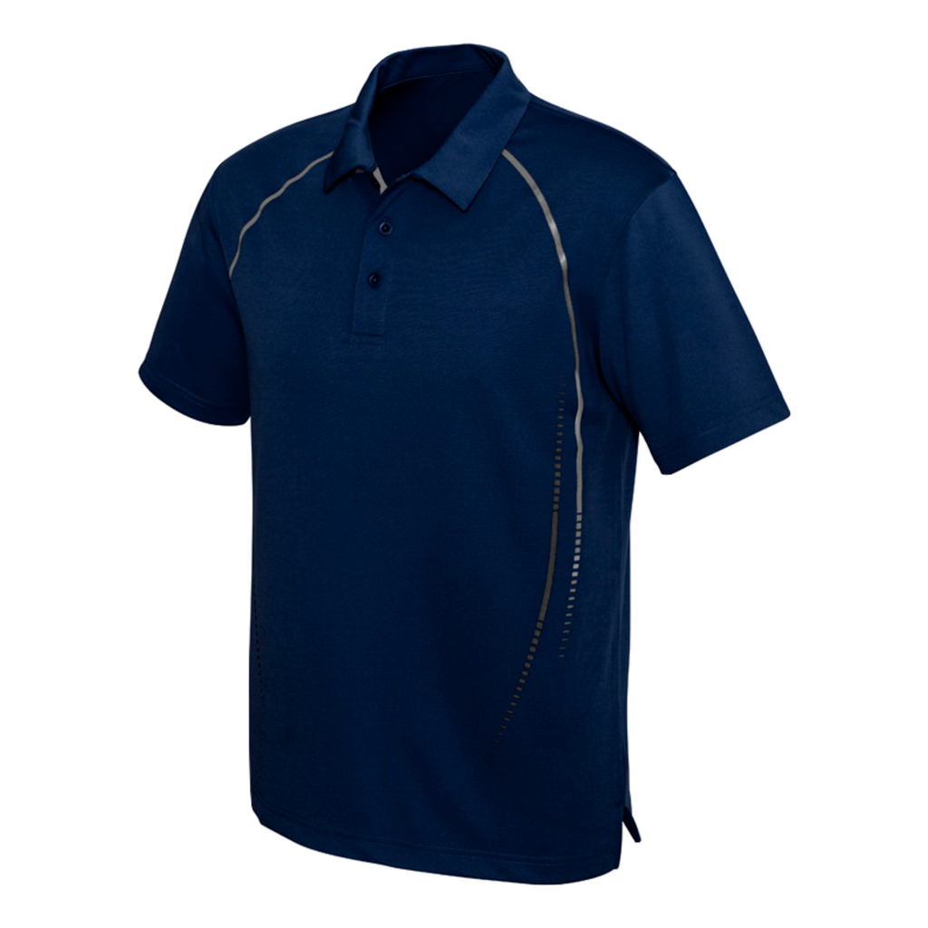 Mens Cyber Polo - Colours Navy / Silver