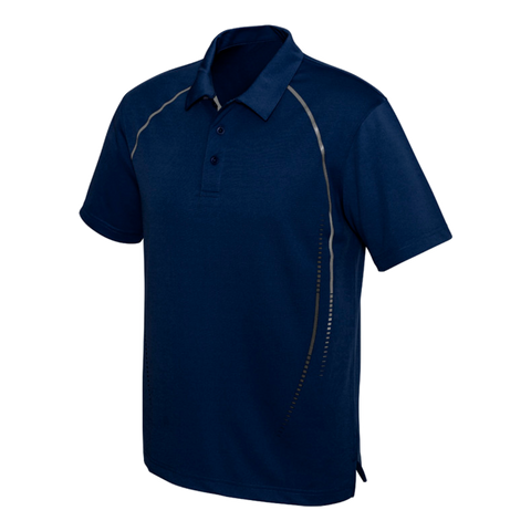 Image of Mens Cyber Polo - Colours Navy / Silver