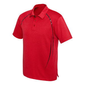 Mens Cyber Polo - Colours Red / Silver