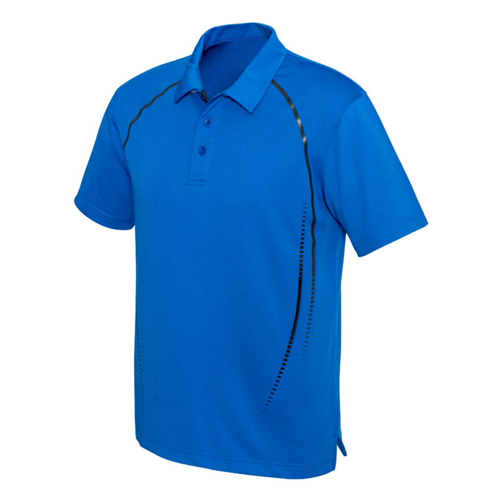 Mens Cyber Polo - Colours Royal / Silver