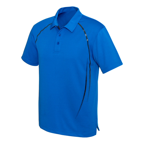 Image of Mens Cyber Polo - Colours Royal / Silver
