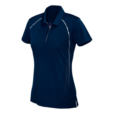 Womens Cyber Polo, Colours: Navy / Silver