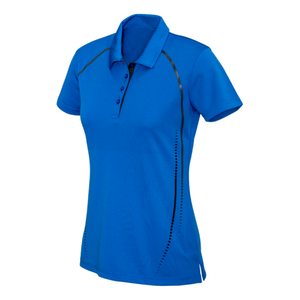 Womens Cyber Polo, Colours: Royal / Silver