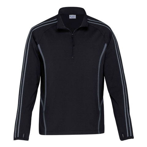 Image of Kids DRI GEAR Reflex Zip Pullover, Colours: Black / Charcoal