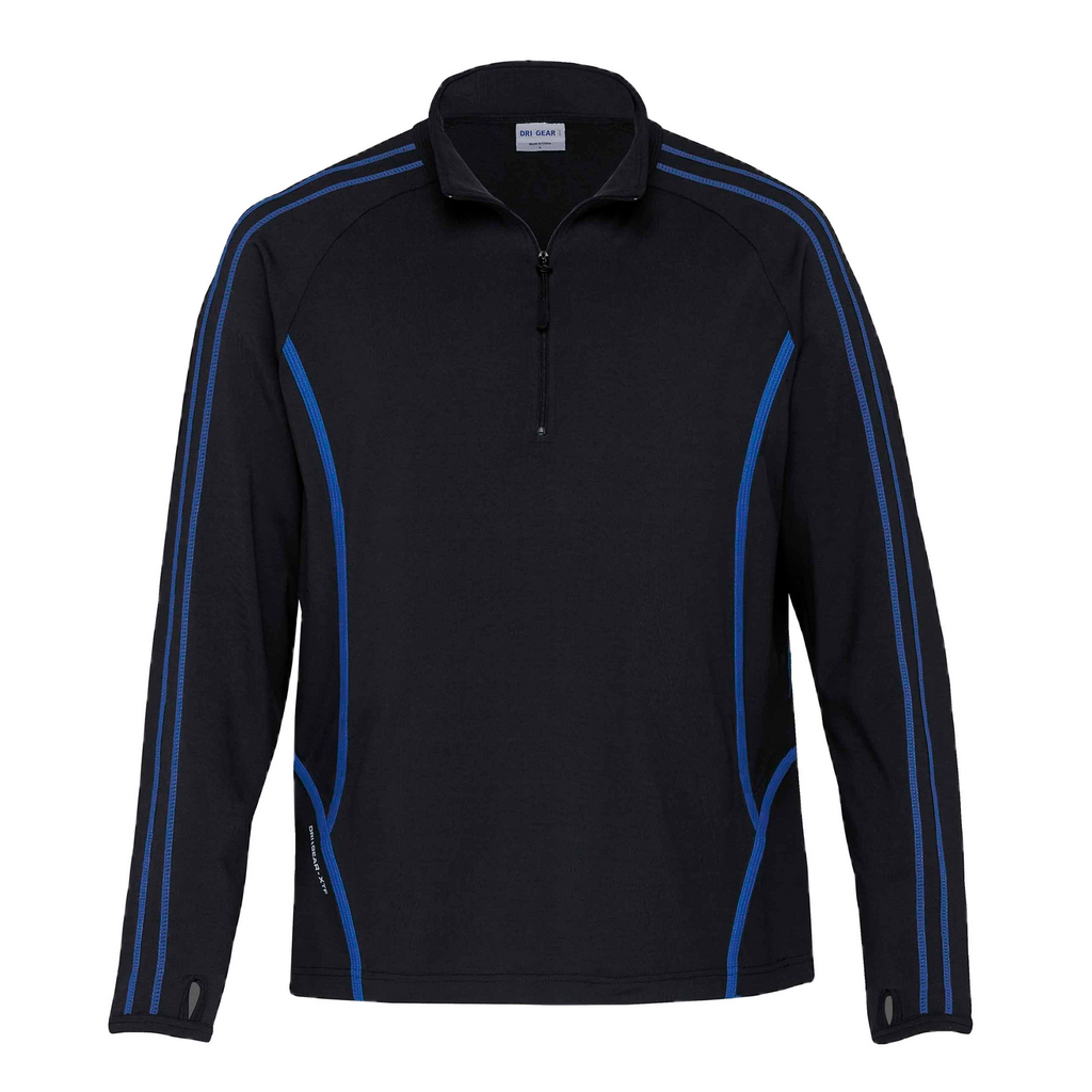 Kids DRI GEAR Reflex Zip Pullover - Colours Black / Royal
