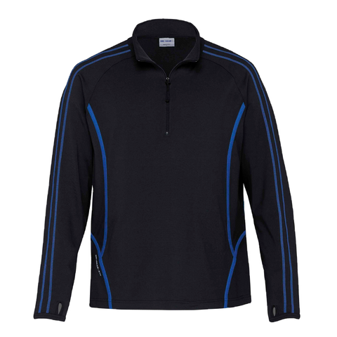 Image of Kids DRI GEAR Reflex Zip Pullover - Colours Black / Royal