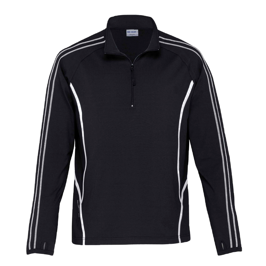 Kids DRI GEAR Reflex Zip Pullover - Colours Black / White