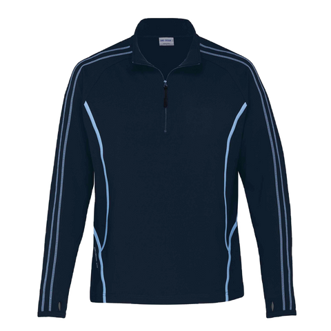 Image of Kids DRI GEAR Reflex Zip Pullover, Colours: Navy / Sky