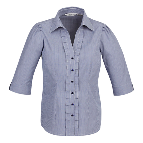 Image of Womens Edge Shirt, Style: 3/4 Sleeve, Colour: Blue