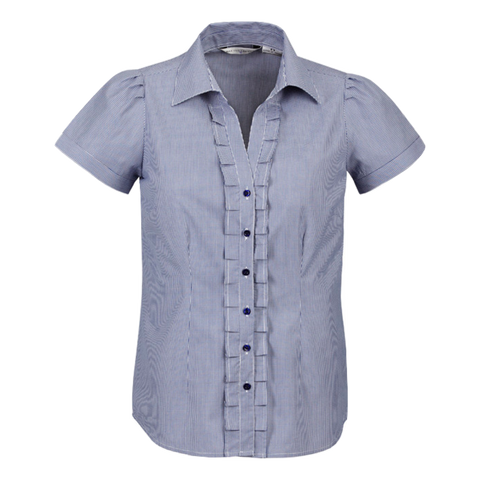 Image of Womens Edge Shirt, Style: Short Sleeve, Colour: Blue