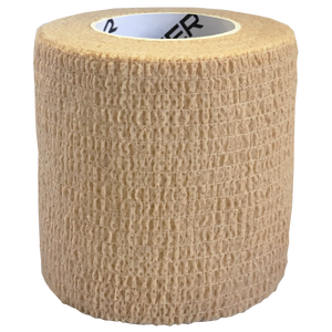 Elastic Cohesive Bandage (ECB), Size: 50mm x 45m, Colour: Tan