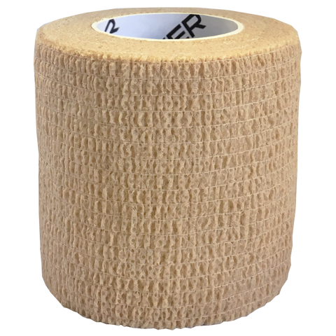 Elastic Cohesive Bandage (ECB), Size: 75mm x 45m, Colour: Tan