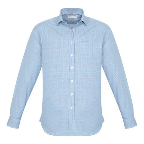 Mens Ellison Shirt, Colour: Blue