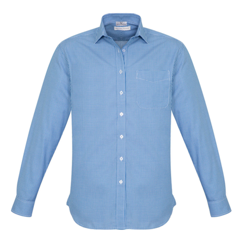 Mens Ellison Shirt, Colour: French Blue