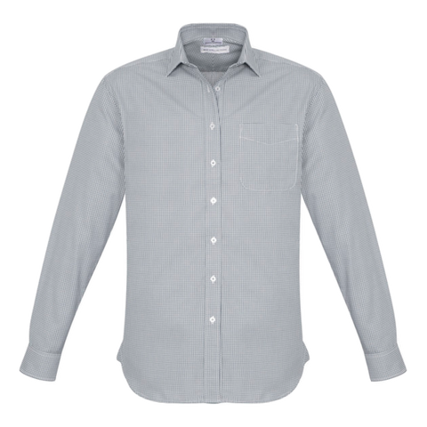 Mens Ellison Shirt, Colour: Silver