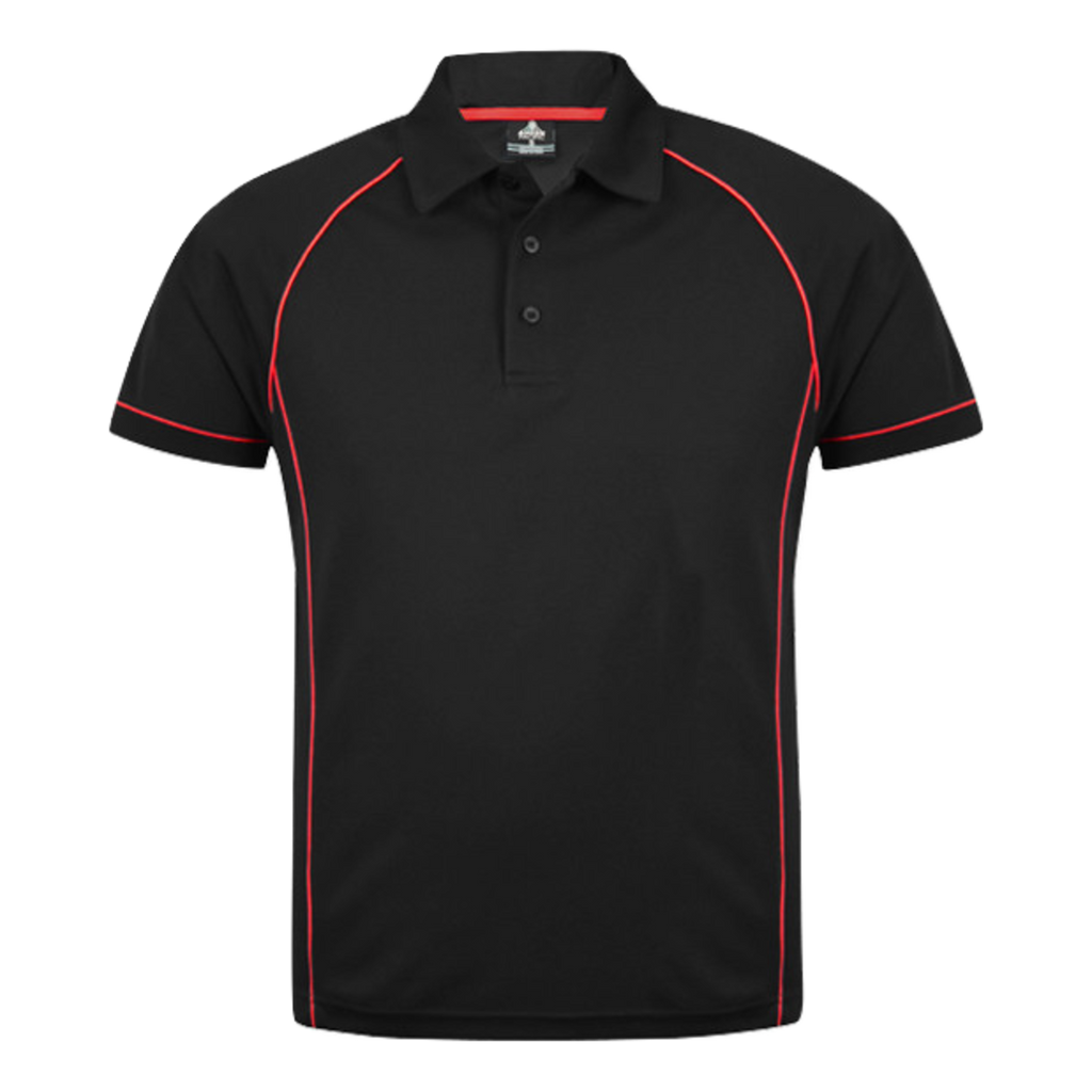 Mens Endeavour Polo - Colours Black / Red