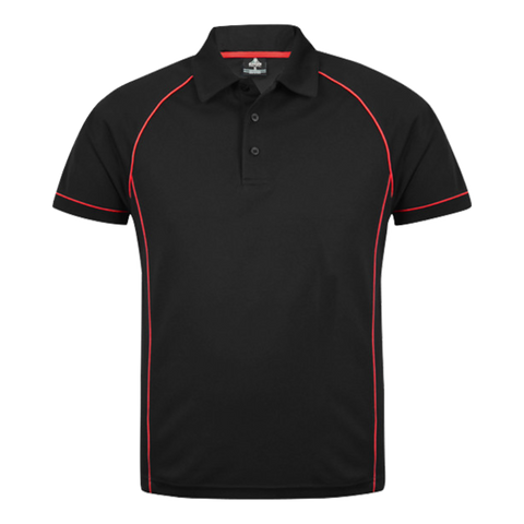 Image of Mens Endeavour Polo - Colours Black / Red