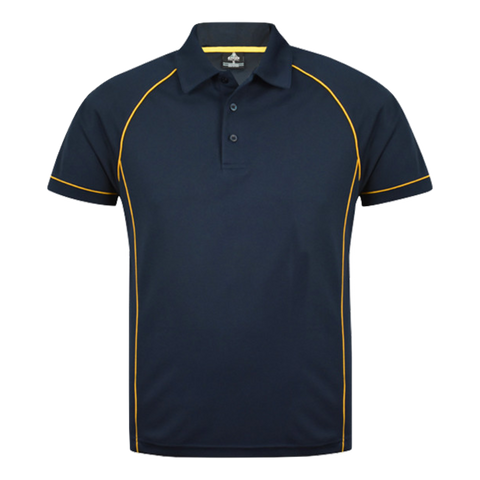 Image of Mens Endeavour Polo - Colours Navy / Gold