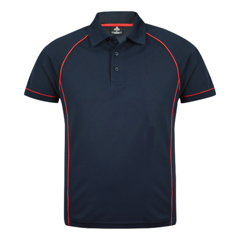 Mens Endeavour Polo - Colours Navy / Red