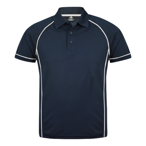 Image of Mens Endeavour Polo - Colours Navy / White