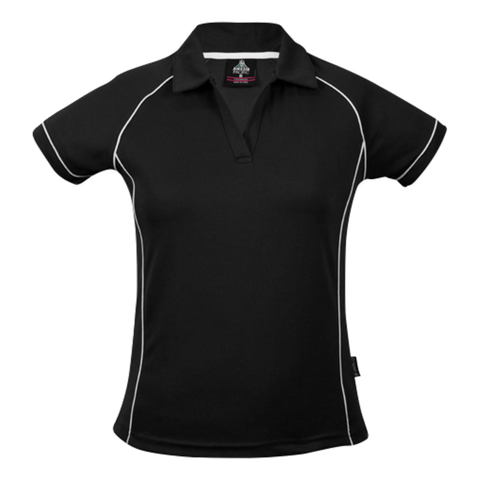 Womens Endeavour Polo - Colours Black / White
