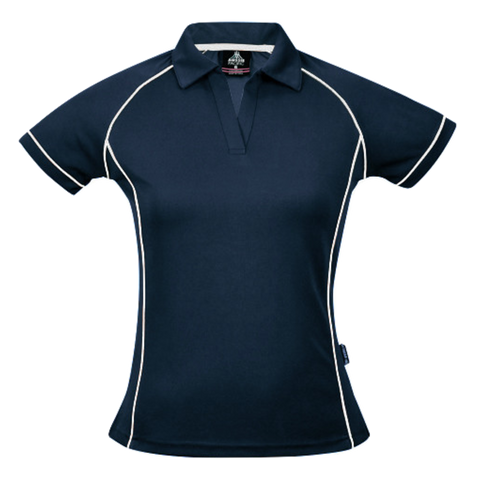 Image of Womens Endeavour Polo, Colours: Navy / White