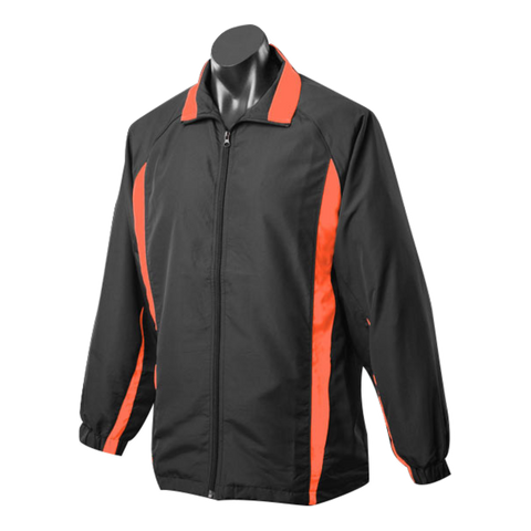 Image of Adults Eureka Tracktop, Colours: Black / Orange