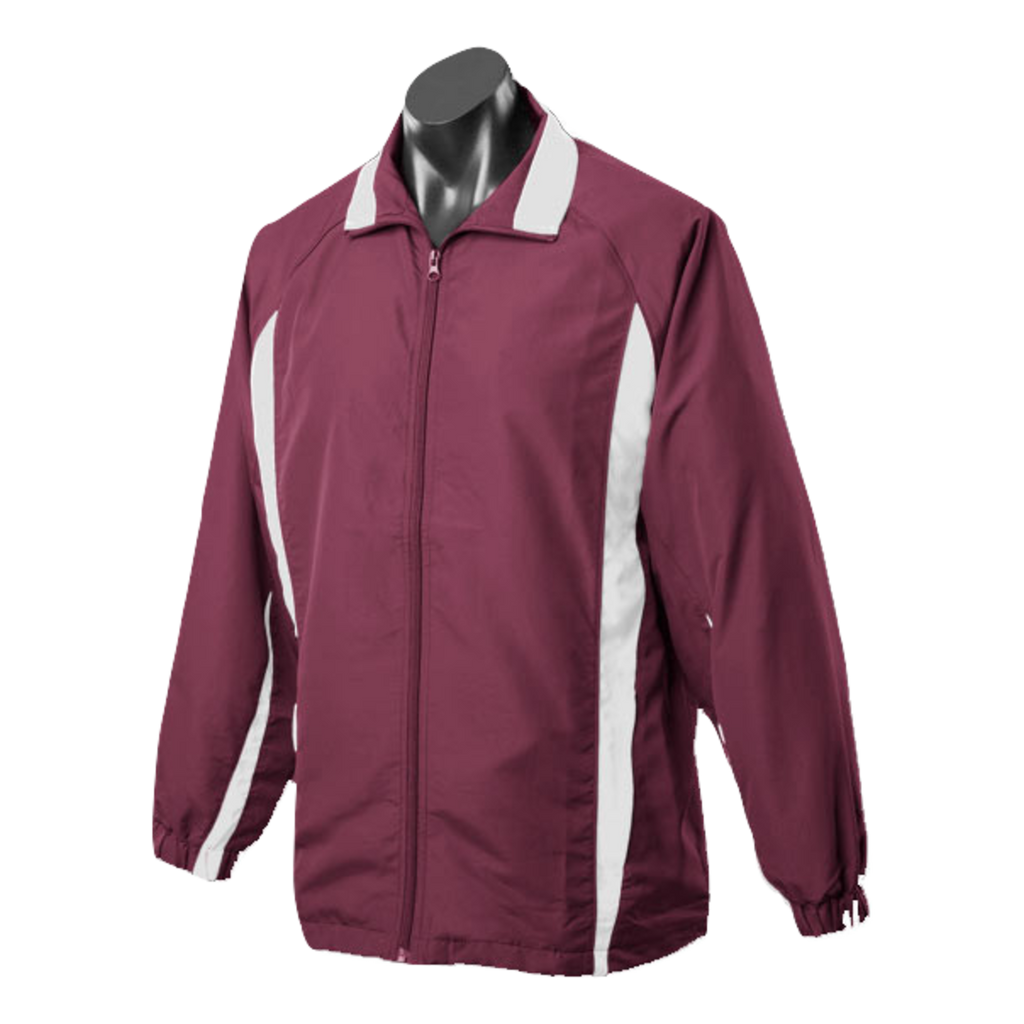 Adults Eureka Tracktop, Colours: Maroon / White