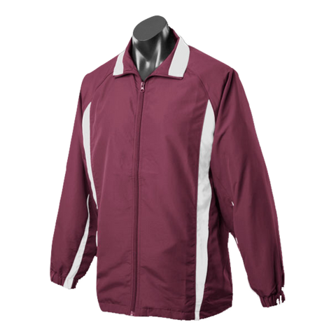 Adults Eureka Tracktop - Colours Maroon / White