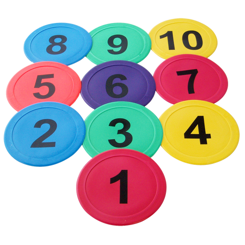 Flat Marker Discs - Numbered