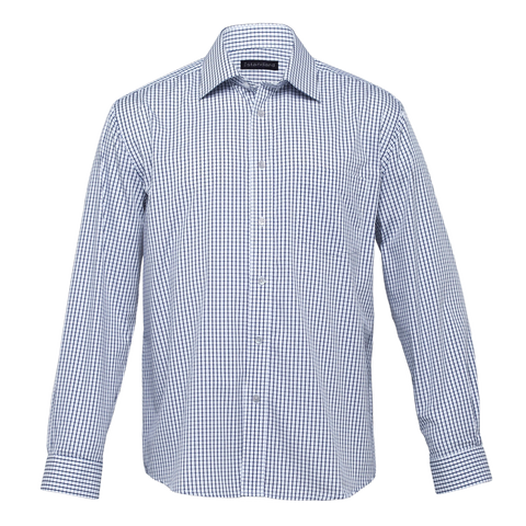 Image of Mens Folio Check Shirt, Colours: White / Navy
