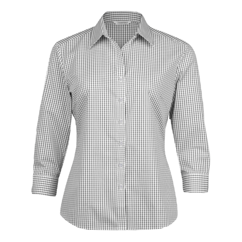 Womens Folio Check Shirt - Colours White / Black