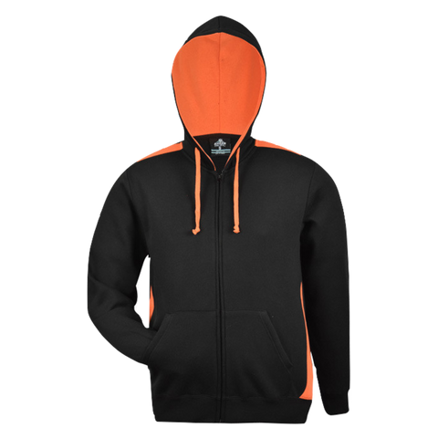 Image of Kids Franklin Zip Hoodie - Colours Black / Orange