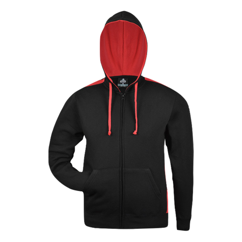 Image of Kids Franklin Zip Hoodie - Colours Black / Red