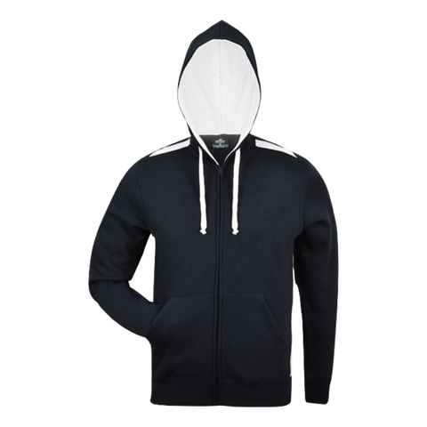Image of Kids Franklin Zip Hoodie - Colours Black / White